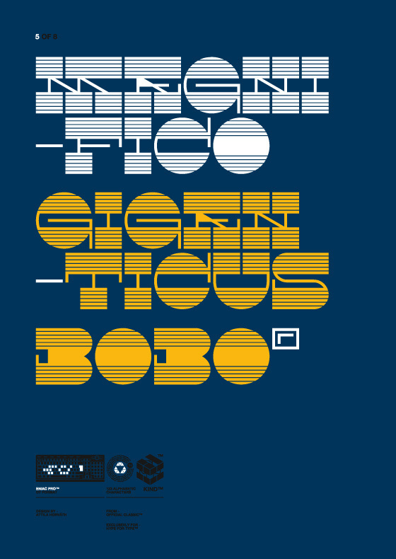 Eniac Pro Exclusive Typeface for HypeForType, 2010. on Behance #font #yellow #contrast #slab #blue #reverse