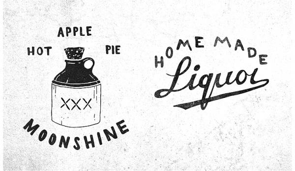 Patrick Moore - DESIGN #mark #white #liquor #black #moonshine #logo