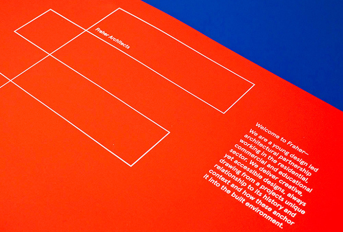 Fraher architects by Freytag Anderson #red #blue #brand design #graphic design