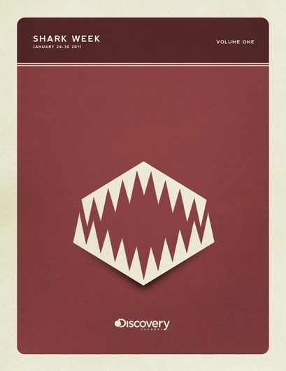 Minimal Poster Design - Shark Week on the Behance Network #posters #colors #vintage #series