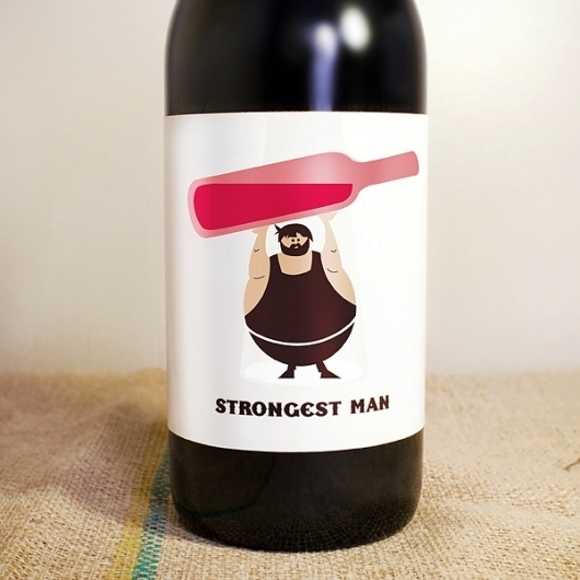 Vancouver Graphic Designer and Photographer #man #circus #wine #strongest