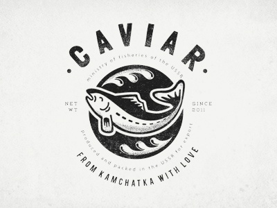 Dribbble - caviar clothes print by Olga Vasik #olga #caviar #kamchatka #fish #sea #vasik