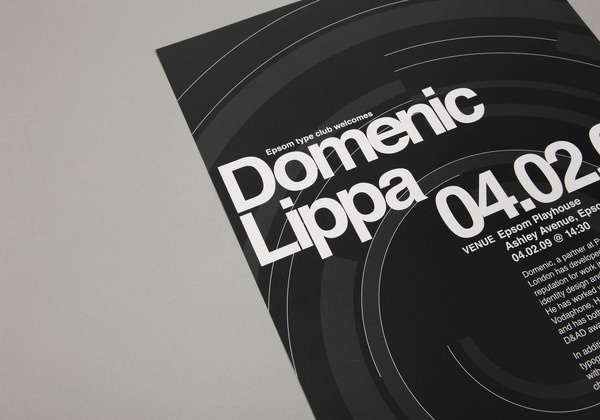 Domenic Lippa Poster by She Was Only #helvetica #poster #typography