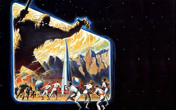 Reynold Brown - The Time Traveloers, 1964 #horror #travel #space #time #monster