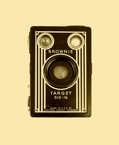 Brownie Camera Art Print #cool #old #camera #print #design #retro #land #unique #photography #vintage #art #studio #society6 #antique #new