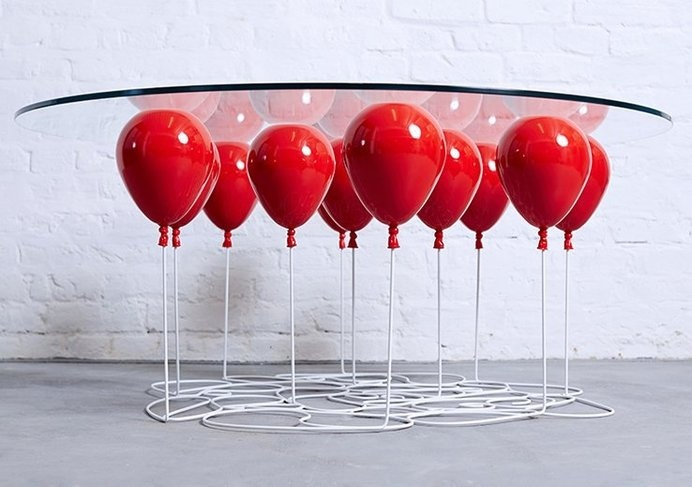 If you want to experience weightlessness, look no further than this cool floating table that will make you feel like you're relaxing on a cu #modern #design #home #product #furniture #industrial #style