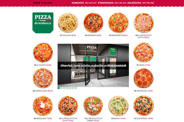 Pizza do krabice #website