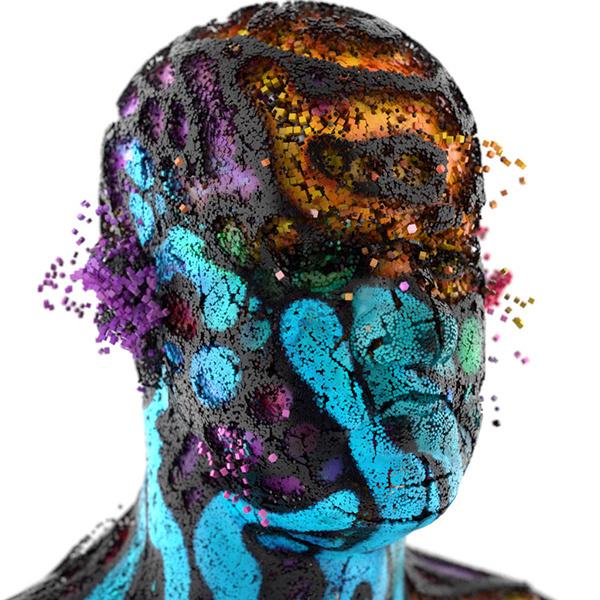 XGen Portraits on Behance #alien #distort #selves #mask #face #future #3d