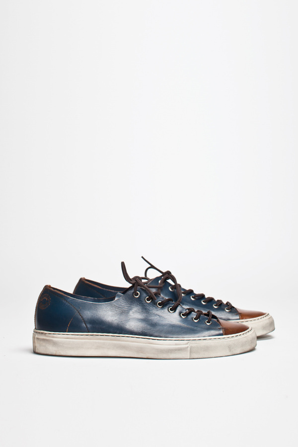 Buttero Tanino Low Leather Two Tone   TRÈS BIEN #shoes #italian #sneakers #leather #buttero