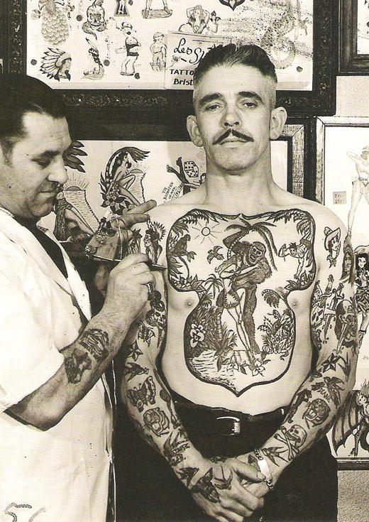 Vintage Mo Ink #illustration #photography #tattoo #vintage #moustache