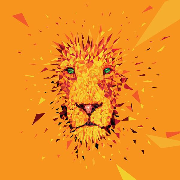 Vector Lion #lion #yellow #orange #illustration #art #face