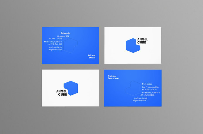 Angel Cube Business Cards #branding #business #card #design #graphic #letterpress #angel #identity #newcastle #logo #shorthand #brandmark #cube