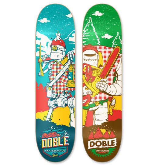 Doble Skateboards #skateboard #illustration #design