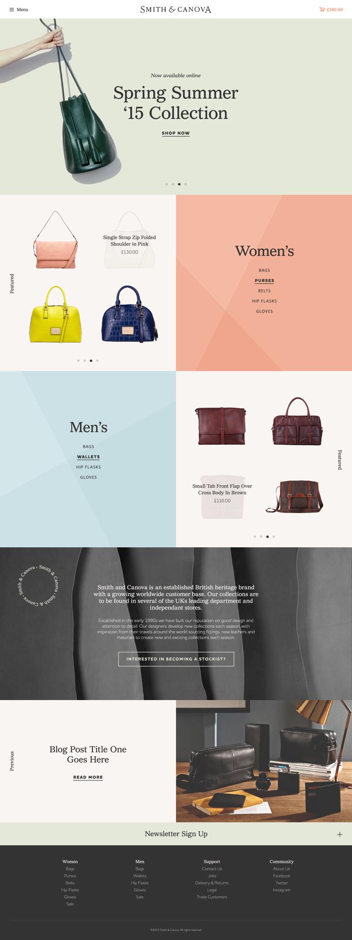 Homepage concept design for Smith & Canova #website #homepage #webdesign