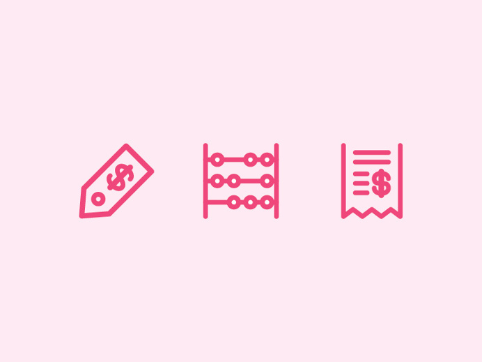 Puffy Love Cart Icons by Equal Parts Studio