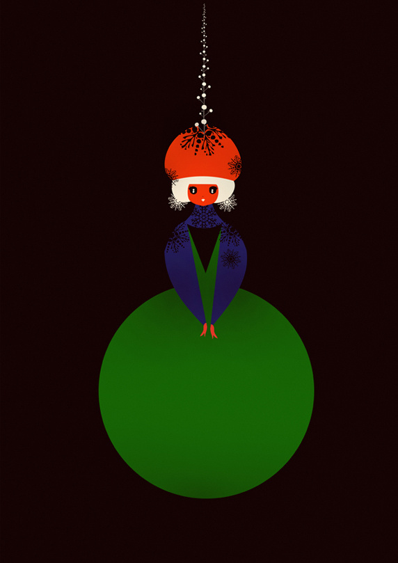 Christmas Dolls #natale #card #christmas #illustration #stationery #grossi #cristian #cards