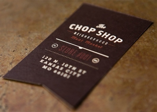 Fonts In Use – The Chop Shop #card #business #typography