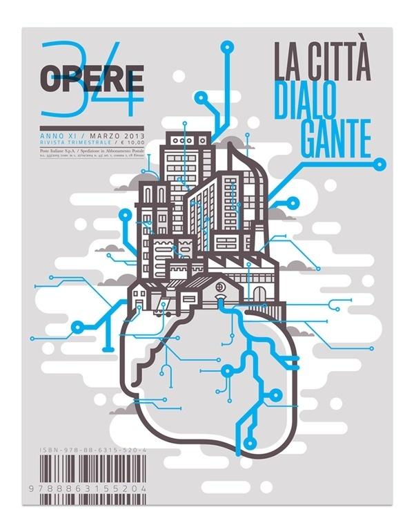 Opere 34 Marco Goran Romano #cover #illustration #editorial #magazine