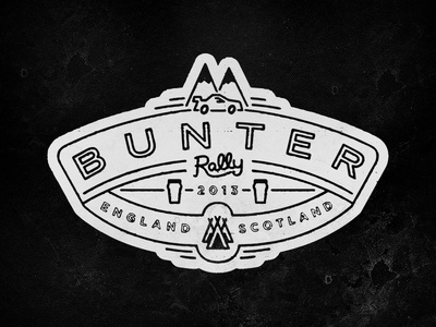 Bunter Rally #logo #up #lock