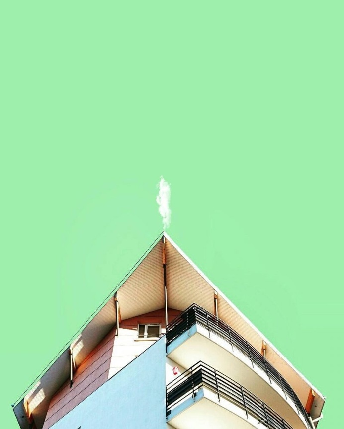 Minimalist and Colorful Architecture Photography by Killian Roman