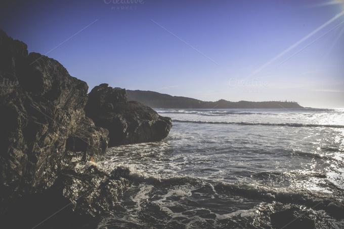 Rocky Beach ~ Nature Photos on Creative Market #ocean #beach #coast
