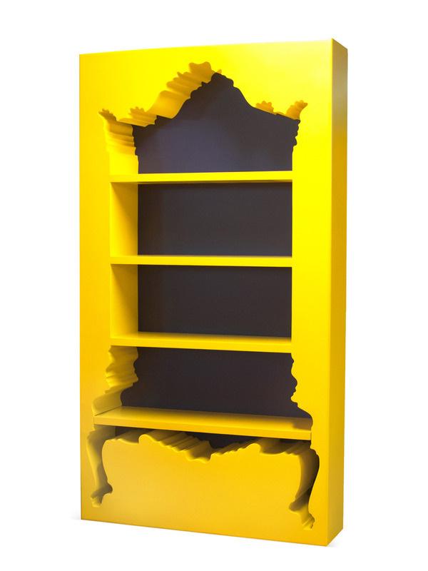 InsideOut Bookcase Gilt Home #inverse #yellow #bookshelf