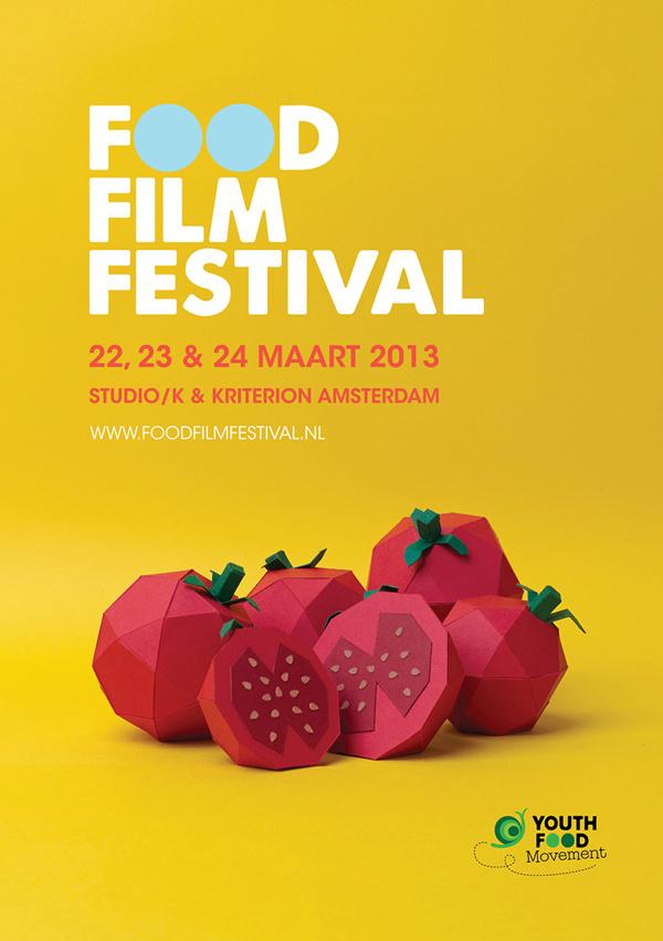 Food Film Festival on Behance #poster