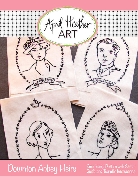 downton abbey #embroidery