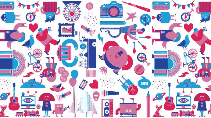 #illustration #pinkandblue #pink #blue #cornucopia #wallpaper #desktop #pattern
