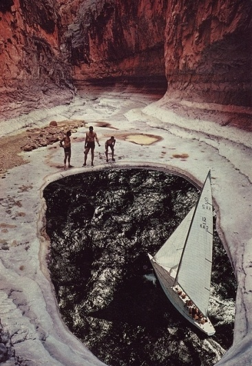 The Collective Loop #water #beth #hoeckel #people #boat #art #collage #mountains