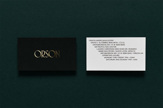 Branding, Packaging & Interiorism — Orson | Anagrama