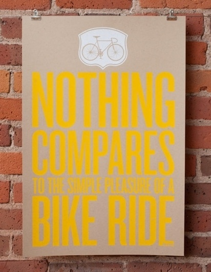 johnny & stacie prints | Design*Sponge #bicycle #poster