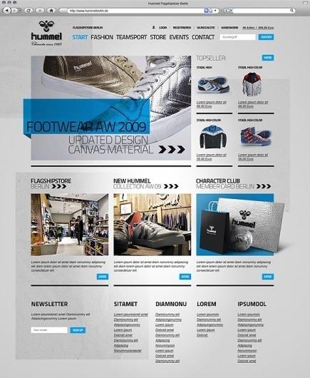Website Pitch / Hummel on Web Design Served #renebieder #webdesign #hummel