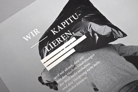 Vom Finden des richtigen Moments on the Behance Network #print #typography