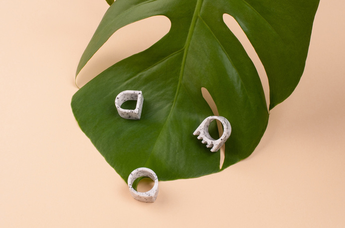 Studio Allt stones geometric minimal modern rings jewelry slovakia design inspiration designblog www.mindsparklemag.com
