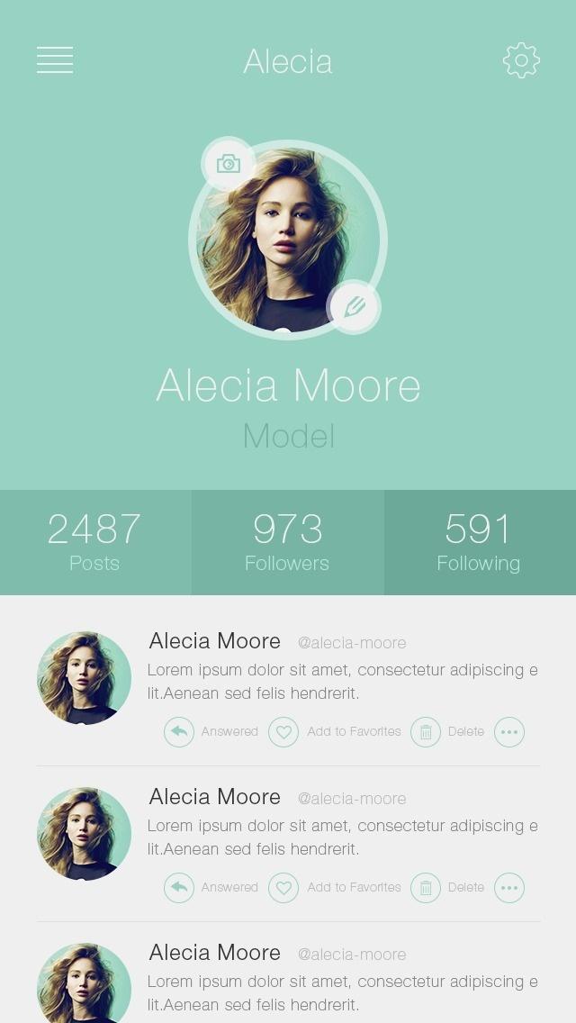 Clean iPhone Profile .App(PSD)