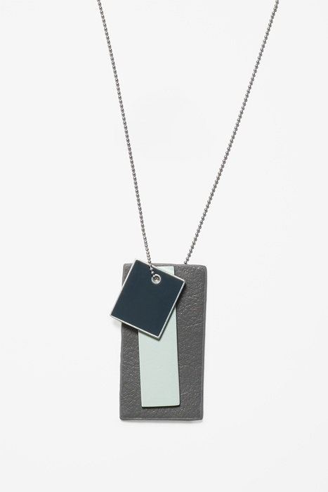 MOONMUD #mixed #leather #necklace