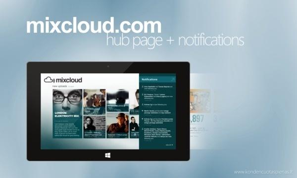 Mixcloud.com Application Concept for Windows 8 on Behance #windows8