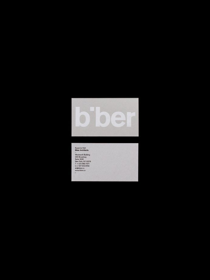 Biber Architects Businesscards Spinstudio