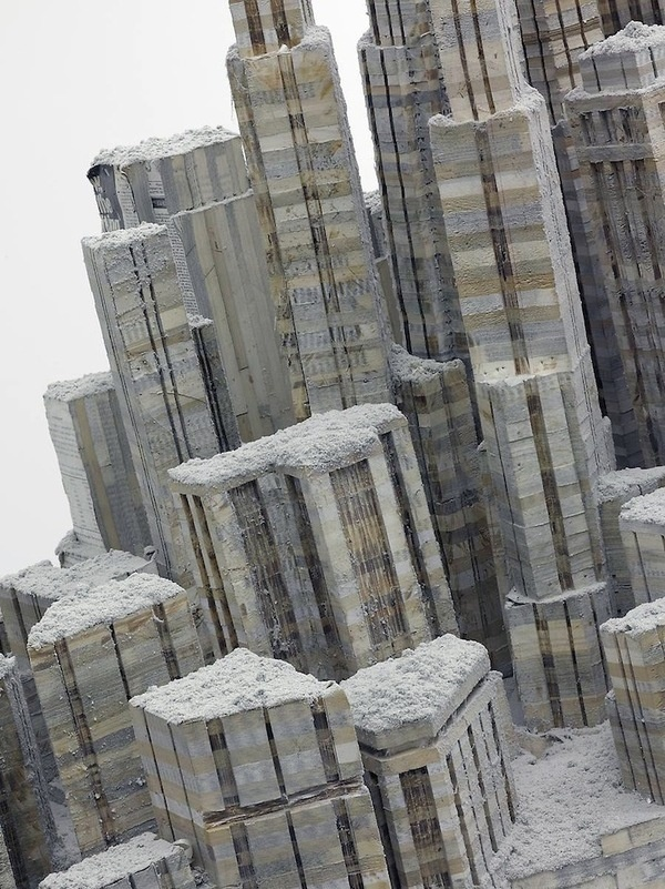 CJWHO ™ (Massive Stack of Books is Sculpted into an...) #sculpture #wei #city #design #books #liu #landscape #architecture #awesome