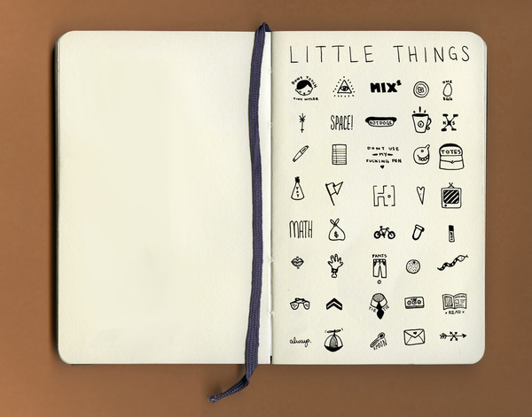 SUBMISSION: Little Things: 40 dime-sized drawings by Jillian Fisher. #illustration #sketch #sketchbook