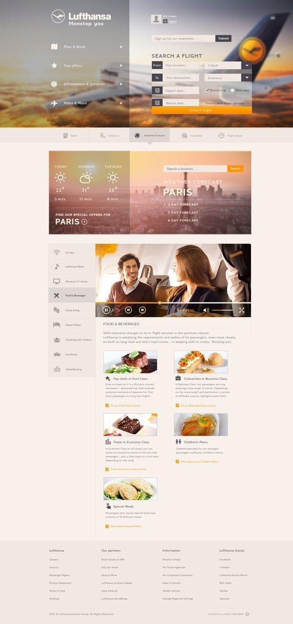 Lufthansa Concept by Erik Lindén #design #ui #grid #digital #layout #web