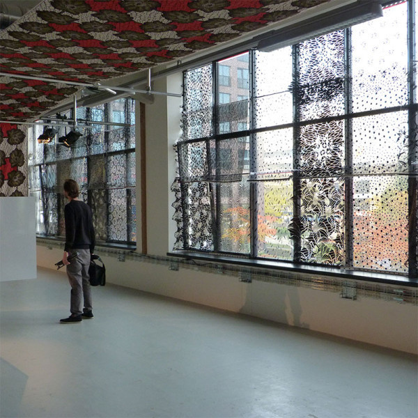 DDW13: A Visit to Vlisco Textiles Photo #window #fabric #pattern
