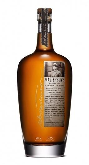 Masterson's Rye Whiskey   Lovely Package #bottle #packaging #drink #design #liquor #label #package