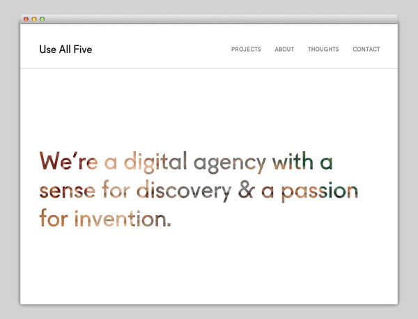 Use All Five #website #layout #design #web