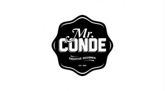 Mr. Conde #logotype #studio #typography