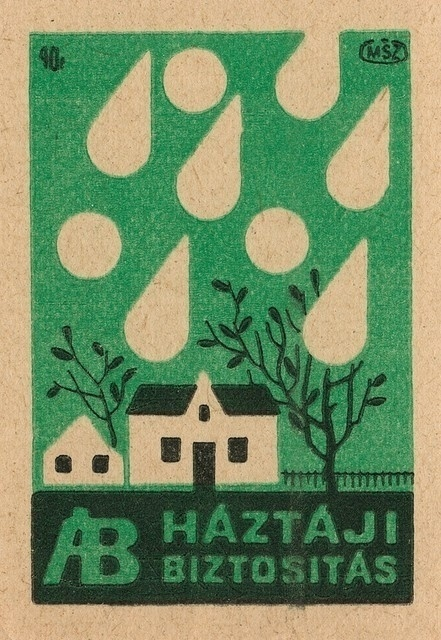 GREEN #label #house #hungarian #tree #matchbox