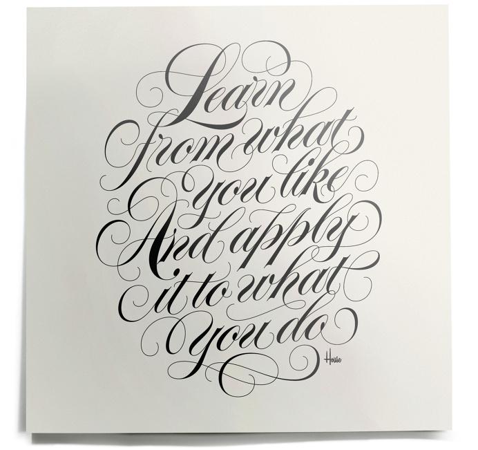 Learn Print - House Industries #kenbarber #script #lettering