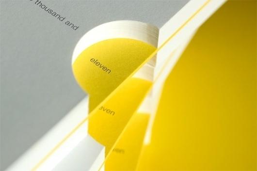 Matter Strategic Design 2011 Sketchbook - FPO: For Print Only #cardboard #yellow #calendar #matter #diecut