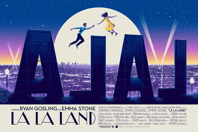 La La Land by Patrick Connan - Home of the Alternative Movie Poster -AMP-